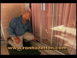 how to adjust and repair sliding patio doors