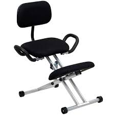 ergonomic kneeling office chairs. Modren Kneeling Flash Furniture WL3439GG Black Ergonomic Kneeling Office Chair With  Silver Steel Frame Handles  For Chairs