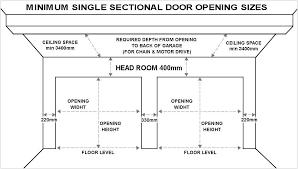 double garage roller doors standard double garage door width nz 2 car size dimensions gallery