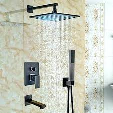 delta rain shower head rainfall home complete systems champagne bronze
