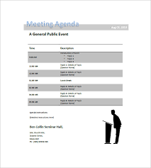 Agenda Template Word 2013 Conference Agenda Template 8 Free Word Excel Pdf Format