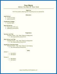 Resume Template High School Job Example Highschool Writing Students