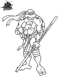Ninja Turtle Coloring Pages For Kids
