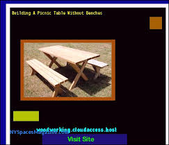 building a picnic table without benches woodworking plans