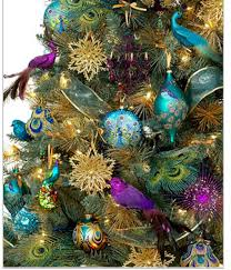 47 Best Peacock Christmas Decor Images On Pinterest  Peacock Holiday Lane Christmas Tree