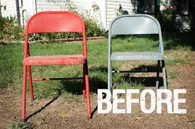 painted metal folding chairs