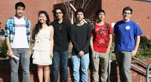 Intel honorees, left to right: Andrew Zhang, Maureen Lei, Lorenzo Choudhary-Smith, Frederic Koehler (Maryland's only finalist), Arec Jamgochian, James ... - 900