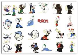 Cartoon Designs Popeye The Sailor Embroidery Designs Set Of 24 Fits In 4x4