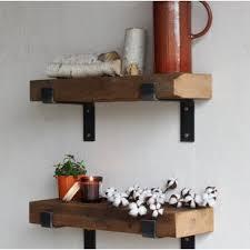 Buckelew Made Chunky Reclaimed Barn Wood Wall Shelf (Set of 2)