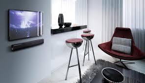 tv sound bar. sound bar mounted under tv on wall tv h
