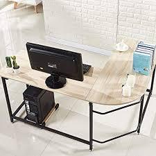 Modern desks for home office Small Image Unavailable Amazoncom Amazoncom Hago Modern Lshaped Desk Corner Computer Desk Home