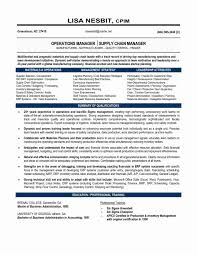 Logistics Manager Resume Sample Procurementrmat Fresh Samples Of