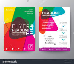 abstract colorful brochure flyer design layout stock vector abstract colorful brochure flyer design layout vector template in a4 size