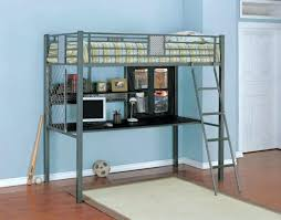 medium size of top full size metal loft bed with desk twin 109 at slide