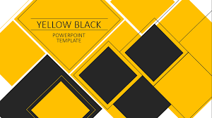 Powerpoint Backgrounds Yellow Yellow Black Powerpoint Template