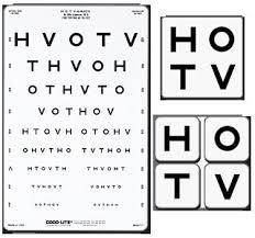 Hotv Chart Full Form Amazon Com 1169415 Eye Chart Hotv 10translucent 9x14 Ea