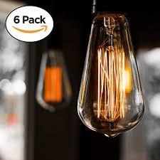 Vintage style lighting fixtures Bathroom Image Unavailable Amazoncom 6pack Edison Light Bulb Antique Vintage Style Light Amber Warm