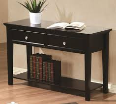 sofa table with drawers in espresso finish – kb home furnishing