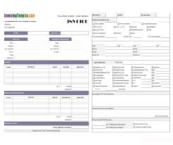 Resume Templates Hvac Invoices Forms Invoice Template Excel Free How