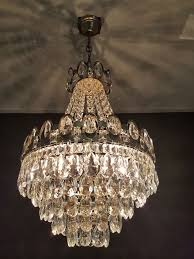 chandelier with cut glass crystals