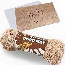 iprimio extra thick micro fiber dog door mat w water proof liner