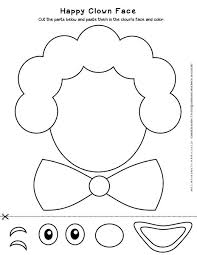 Here are the available worksheets about colours! Carnival Worksheet Clown Face Cut Paste Activity Planerium