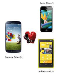 Samsung Galaxy S4 Comparison Chart Samsung Galaxy S4 Vs Iphone 5 Vs Lumia 920 Specs