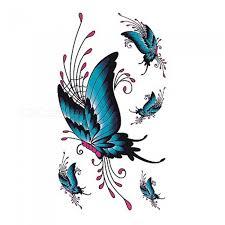 98x6cm Akvarel Motýl Dočasné Tetování Samolepka Vodotěsné ženy Fake Tetování Muži Děti Tělo Umění Horké Provedení A 017