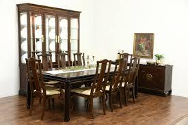Drexel Heritage Connoisseur Chinese Motif Vintage Dining Set Table
