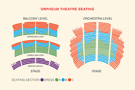 view orpheum theatre seating plan
