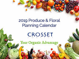 Group Planning Calendar 2019 Crosset Produce Floral Planning Calendar Now