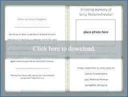 Free Printable Funeral Program Templates Memorial Service