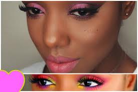 pink makeup ideas for black s ellarie