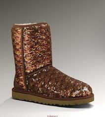 UGG Classic Short Sparkles 3161 Black Boots QS356819 9401-C