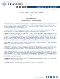 thank you informational interview mastering the informational interview