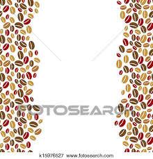coffee beans border. Wonderful Beans Clip Art  The Coffee Beans Vertical Border Fotosearch Search Clipart  Illustration Posters To Coffee Beans Border A
