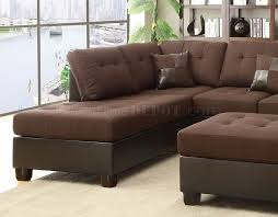 f7602 sectional sofa w ottoman by boss in chocolate linen fabric