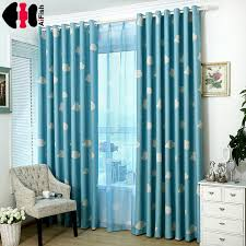 Blue Curtain Cloud Kids Nursery Bed Curtain Shade Cloth Transparent Tela  Cortinas Bedroom Pink Curtains For