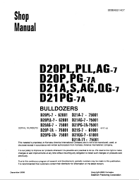 komatsu d20pl pll ag 7 d20p pg 7a d21a s ag qg 7 d21pg 7a repair manual komatsu d20pl pll ag 7 d20p pg 7a