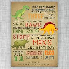Dinosaur Birthday Invitation Dinosaur Birthday Invitation Customizable