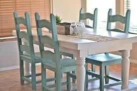 kitchen table and chairs. Painted Kitchen Table And Chairs-color Combo For Dining Room: Gray Walls Chairs 4