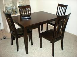 wood dining table sofa surprising dark rustic kitchen tables alluring black wooden within square dark wood
