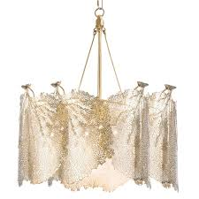 regina andrew design extra large sea fan chandelier brass