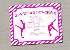 Dance Award Certificate