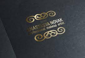 makeup artist logo design by 3dots art