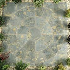 patio slab sets: abbey circle kit mtr antique patio kit