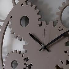 large round shabby wood wall clock