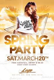 Part Flyer Download Spring Party Flyer Templates Creative Flyers