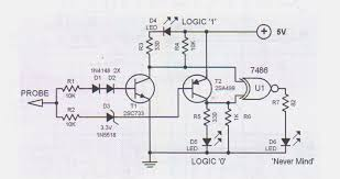 logic probe tester circuitlogic probe circuit schematic