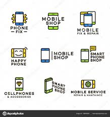 Mobile Shop Repair And Maintaince Logo Color For Corporate Identity